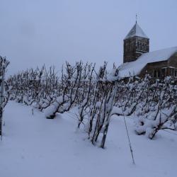Eglise Saint Nicaise sous la neige